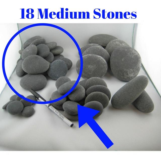 18 Medium stones