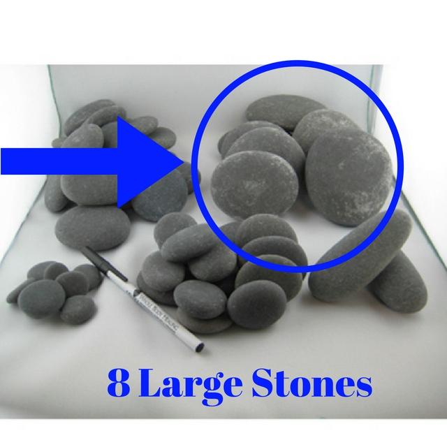 8 Large Stones