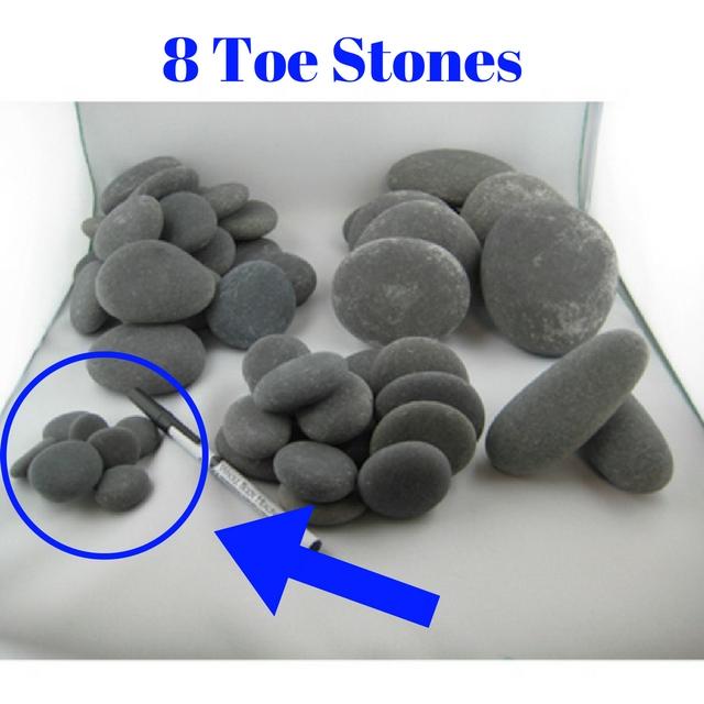 8 toes stones